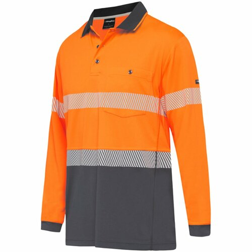 KingGee Workcool Hyperfreeze Spliced Taped L/S Polo (K54225)