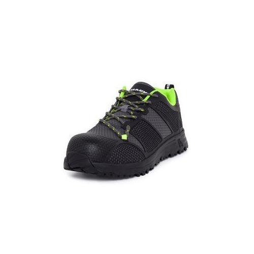 Mack Mens Pitch Safety Shoe (MKPITCH) Charcoal/Lime