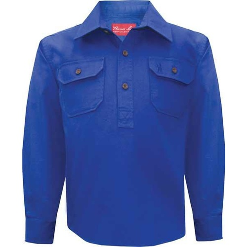 Thomas Cook Childrens Heavy Drill 1/2 Button L/S Shirt (TCP7100163)