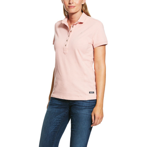 Ariat Womens Prix 2.0 Polo (10030475) Bridal Rose [SD]