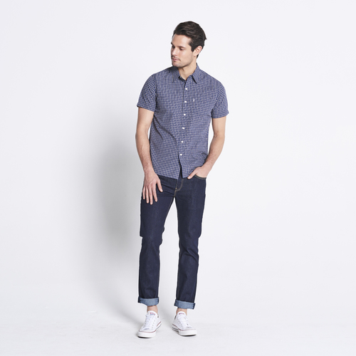 Levi's Mens Classic Pocket S/S Shirt (21977) Confetti Dress Blue [SD]