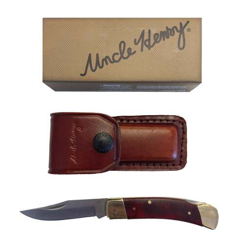 SCHRADE SMOKEY 3 3/4IN KNIFE WITH LEATHER POUCH 38LB5